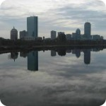 Boston skyline gray